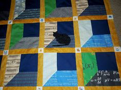 Close up of quilt for my elder son.