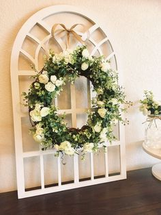 Eucalyptus Wreath with Greenery and Flowers Farmhouse Frame Farmhouse Frames, Farmhouse Wall Decor, Rustic Wall Decor, Country Decor, Entryway Decor, Iron Wall Decor, Frame Wall Decor, Purple Bedroom Accents, Eucalyptus Wreath