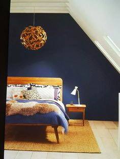 Varmt blått sovrum