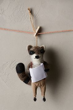 Wiley Raccoon Ornament - anthropologie.com #anthrofave ~ETS