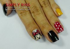 again with the talented thing. but i love the plain colored nails. #minniemouse #manicure #nails #disney