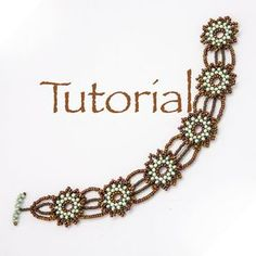 Beadwoven Bracelet Tutorial A Pocketful of Posies by JewelryTales.