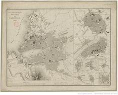 Plan topographique de la ville de <mark class='highlightedText'>Marseille</mark> 1830 / Dessiné par P. Matheron, J. J. B. du B. dirext Lutetiae, 1833