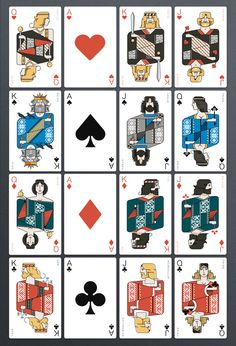 Icelandair Playing Cards by Thorbjörn Ingason, via Behance