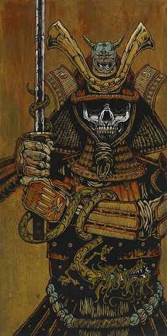 My newest art newsletter dropped today.all kinds of new paintings and prints with drunk mariachi, skeleton samurai, badass Indians, and crazy fighter pilots. Check out my samurai:. Fantasy Kunst, Fantasy Art, Samourai Tattoo, Biomech Tattoo, Ronin Samurai, Samurai Artwork, Samurai Drawing, Art Japonais, Animes Wallpapers