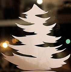 Шаблоны и трафареты для украшения окон *идеи из интернета* / Новый год / Новогодний декор