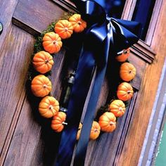 pumpkin & bow wreath