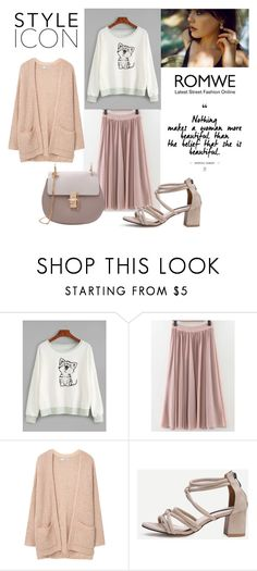 """""""ROMWE CONTEST"""" by adancetovic ❤ liked on Polyvore featuring MANGO"""