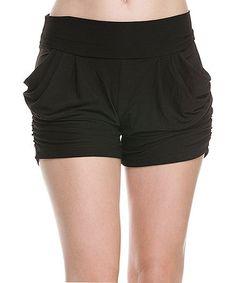 Another great find on #zulily! Black Drape Pocket Shorts - Women #zulilyfinds