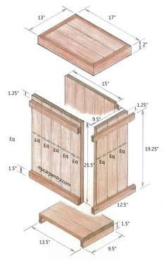Wood Waste Basket - This woodworking project is excellent for your patio, deck or outdoor kitchen.  It is made of old weathered cedar fence boards, but you can use new material if you prefer.