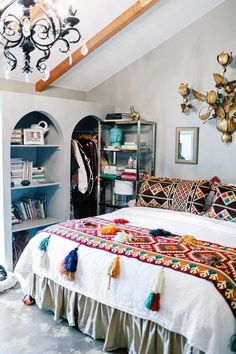 MD: What was your greatest find? JA: The amazing Syrian kilim textiles that I ended up using all over my bedroom—that doesn't happen often! I also love the baby faux Victorian sofa...