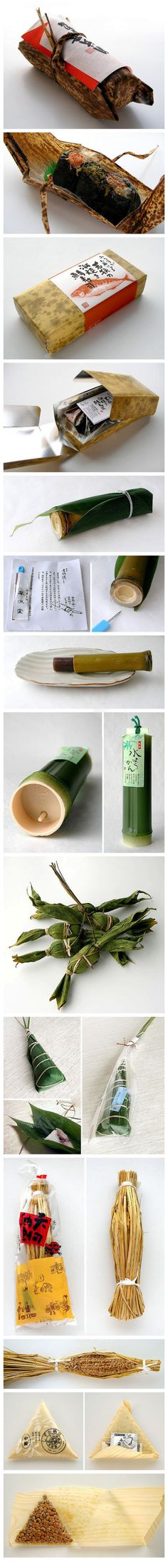 I love this Japanese traditional #nature #packaging for food. bamboo tree, leaf... | Ivan Giorgetti