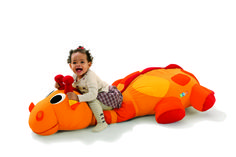 """""""Olaf the Giraffe"""" Giant Floor Cushion from Your little one will LOVE snuggling with this giant pillow Giant Dinosaur, Dinosaur Stuffed Animal, Giant Floor Cushions, Olaf, Snuggles, Pillows, Cushion Pillow, Little Ones, Playroom"""