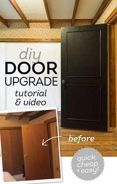 DIY Easy Door Upgrade Tutorial