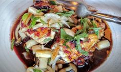 Pan roasted halibut at Girl & The Goat