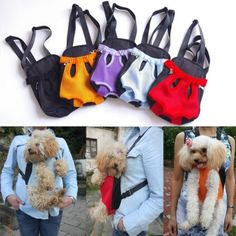 Any Color Nylon Pet Dog Carrier Backpack Sling Tote Front Net Bag- Size S M L XL $7.28