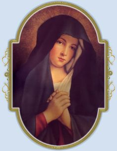 Our Lady of Sorrows Divine Mother, Blessed Mother Mary, Blessed Virgin Mary, Religious Images, Religious Art, Virgo, Lady Madonna, Images Of Mary, Christian Artwork