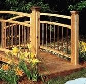 to get from the front yard to the back yard this bridge would be perfect!