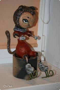 Игрушка Куклы Папье-маше Люська - вредина Бумага фото 2