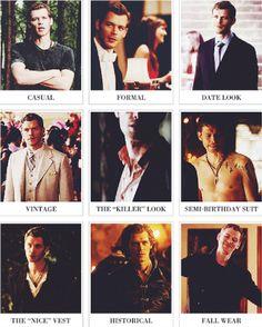 Klaus Mikaelson attire ;) The Originals.♥