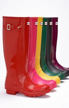759dd2512019a Hunter Original High Gloss Waterproof Boot (Women)