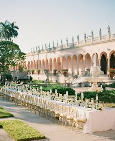 Outdoor wedding at the Ringling Museum of Art | KT Merry Photography | blog.theknot.com