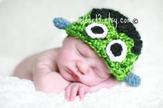 Handmade Crochet Hat Beanie Halloween Frankenstein by NattyHatty, $18.99