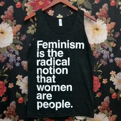 Image of 'Feminism is the Radical Notion' Charity Tank Top