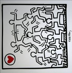 Image detail for -Keith HARING : Untitled 1987 : Reproduction, Fine Art print, poster on ...