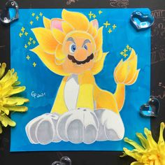 Here you can see Cat Mario from Super Mario 3D World Super Mario 3d, Art Sketchbook, Tweety, Fanart, World, Cats, Fictional Characters, Inspiration, Biblical Inspiration