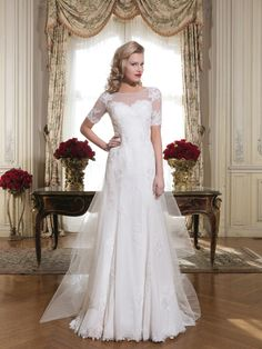 The neckline and sleeves - the flow of the dress
