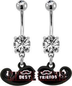 Best friend belly button rings