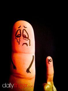 Finger Art, in tears