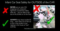 Dangers of carseats on top of carts - Google Search