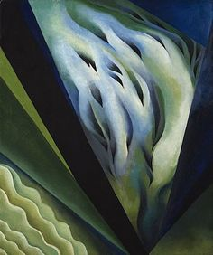 [Now on view in Gallery Georgia O'Keeffe. Blue and Green Music, Alfred Stieglitz Collection, gift of Georgia O'Keeffe. © The Art Institute of Chicago. Alfred Stieglitz, Georgia O'keeffe, Wisconsin, New Mexico, Georgia O Keeffe Paintings, Arthur Dove, Blue And Green, Green Art, New York Art