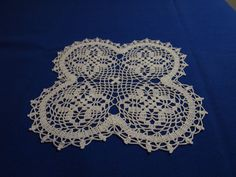 Small white square crochet doily with by Handicraftshed on Etsy