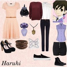 Ouran- Haruhi by animedowntherunway on Polyvore