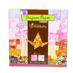 Papier origami AVENUE MANDARINE Lollipop 60 feuilles : Chez Rentreediscount Loisirs créatifs Stickers, Origami Paper, Creative Art, Leaves, Creative Crafts, Decals