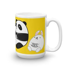 Let Pompo warm your heart while you drink your coffee! Pompo Gamer (Yellow) - Mug 15oz
