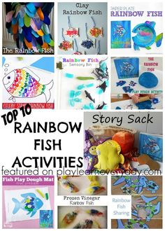 Ten of the most fun activities that you can do for The Rainbow Fish story with kids.
