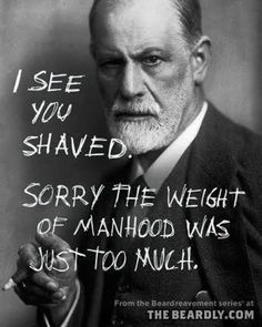 Haha... Fall season is almost here so it's time to let the beard come in.