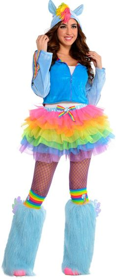 Adult Flirty Rainbow Dash Costume - My Little Pony - Party City Canada Best 80s Costumes, 80s Halloween Costumes, Adult Costumes, Halloween Ideas, My Little Pony Costume, My Little Pony Party, Rainbow Dash Halloween Costume, Unicorn Halloween, Unicorn Costume