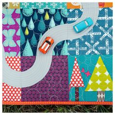 "Scenic Route road quilt | from new book ""For Keeps: Meaningful Patchwork for Everyday Living"""