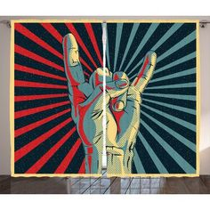 Rock and Roll Tapestry - Music Rock On Hand Sign Wall Tapestries Hanging Décor Bedroom Dorm College Living Room Home Art Print Decoration Decorative - Printed in the USA - Small Medium Large Sizes Arte Pop, Rock And Roll Sign, Rock And Roll Bands, Concert Rock, Pochette Cd, Home Music, Photo Polaroid, We Will Rock You, Rockn Roll