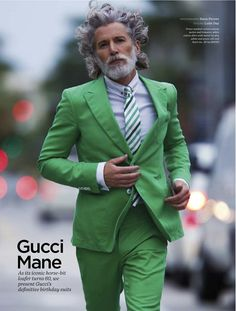 gucci suit for spring summer 2013 south beach miami by hans feurer, with luke day