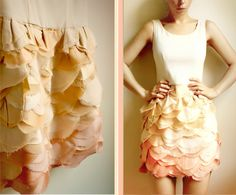 beautiful bridesmaid dresses from Etsy bridal party attire ombre pink peach ivory