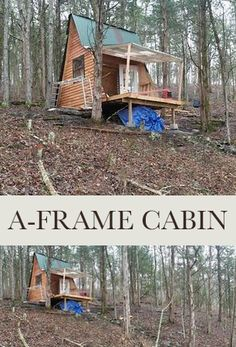 This cabin I built on a quiet hill and it would probably make Thoreau proud.