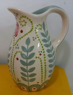 kitchen decoration – Home Decorating Ideas Kitchen and room Designs China Painting, Ceramic Painting, Painting On Wood, Ceramic Art, Pottery Painting Designs, Paint Designs, Ceramic Pitcher, Ceramic Jugs, Paint Your Own Pottery