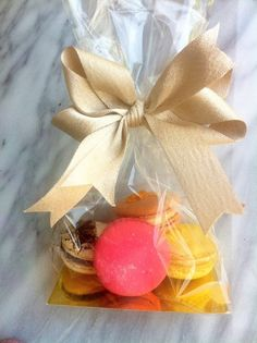 French macaron party favors French press pastries