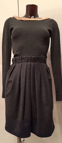 GUNEX for BRUNELLO CUCINELLI grey wool skirt size small#Gunex for Brunello Cucinelli Excellent Pre-owned Condition. 93% Wool / 7% Cashmere (stretchable) Wool Skirts, Brunello Cucinelli, Nice Dresses, Cashmere, Dressing, High Neck Dress, Grey, Shopping, Clothes